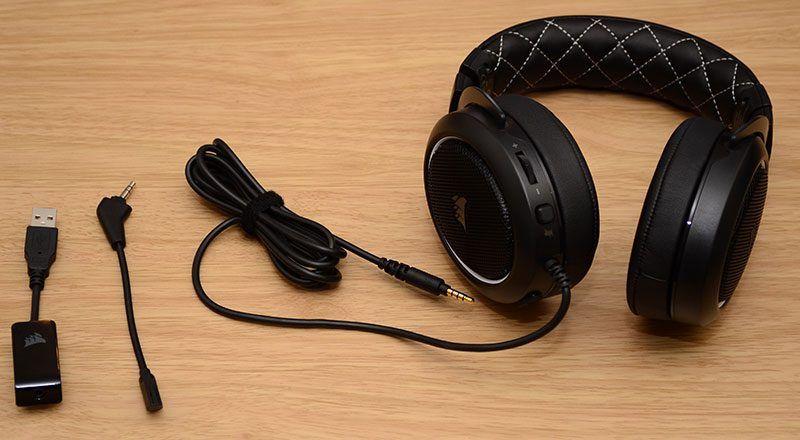 Corsair hs60 71 virtual surround sound pc gaming headset