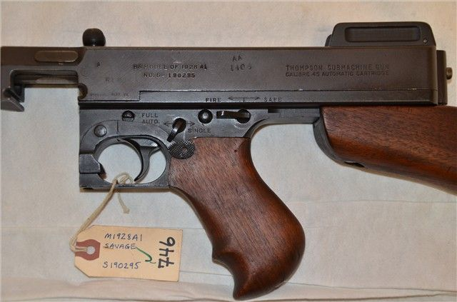 Thompson 1928 Pre 86 dealer sample : Machine Guns at GunBroker.com ...