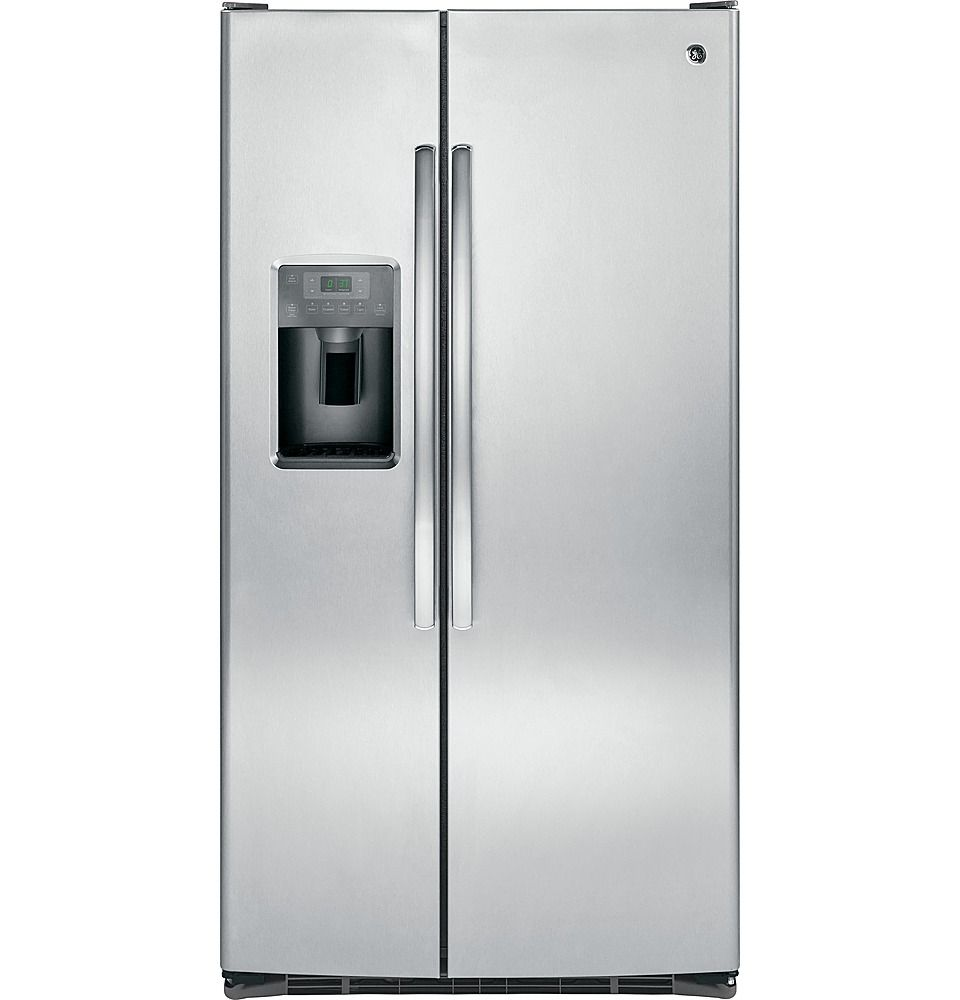 Ge 25 4 Cu Ft Frost Free Side By Side Refrigerator With Thru The Door Ice And Water Stainless Steel Side By Side Refrigerator Stainless Steel Refrigerator Refrigerator Sale