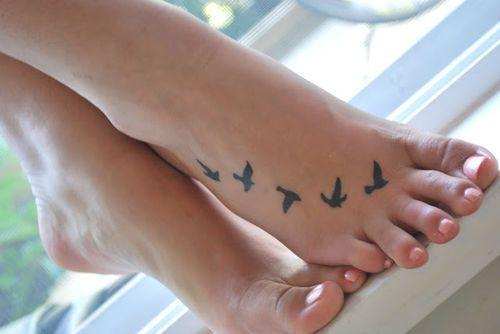 Bird Flying Tattoo For Foot Cute Foot Tattoos Foot Tattoos For Women Small Foot Tattoos