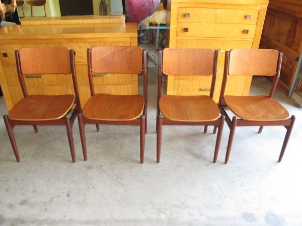 4 FREM ROJLE Teak Rosewood DANISH Mid Century MODERN Dining Chairs Craigslist 750