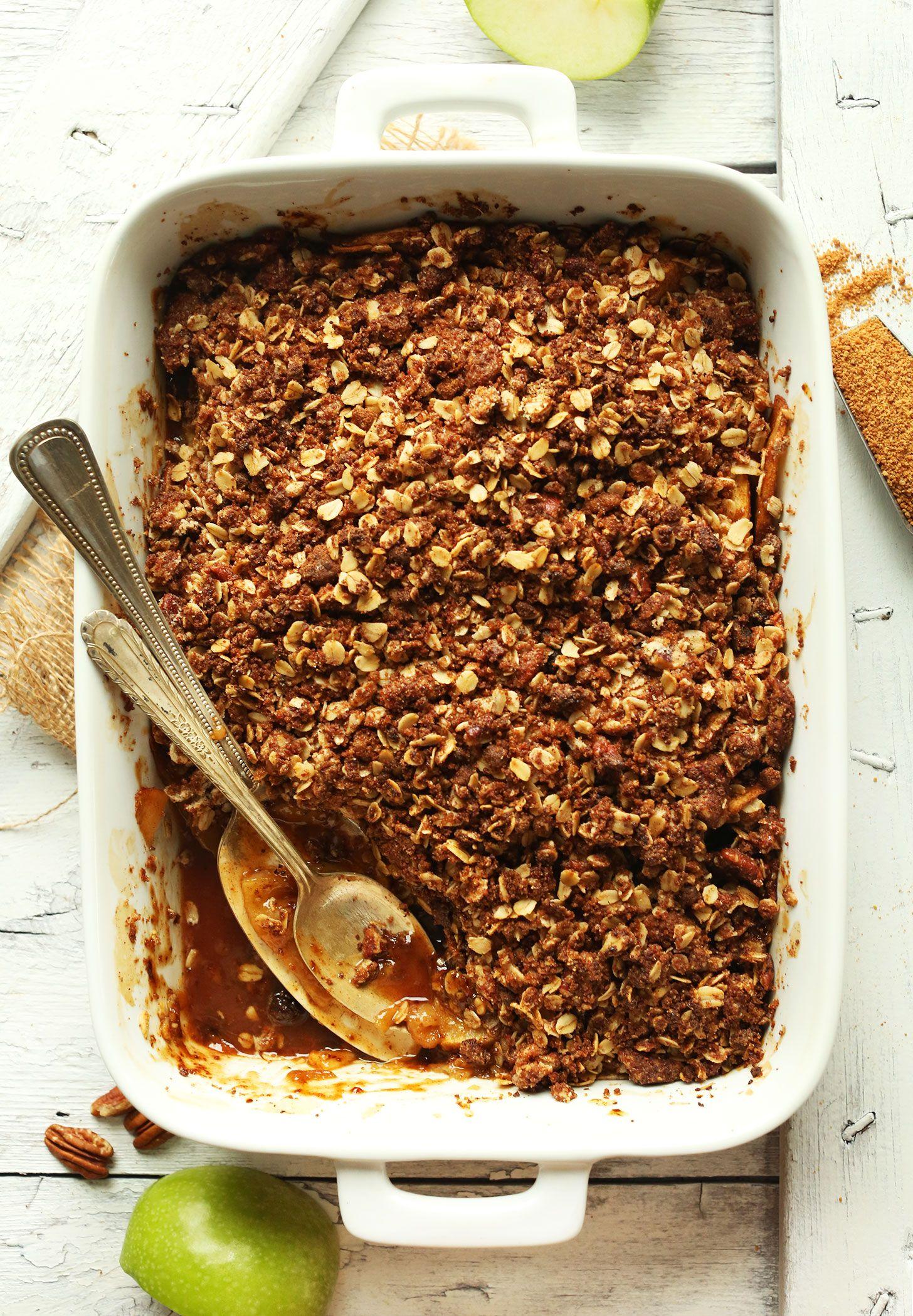 Best Vegan Apple Crisp Minimalist Baker Recipes Recipe Vegan Apple Crisp Vegan Thanksgiving Dessert Baker Recipes