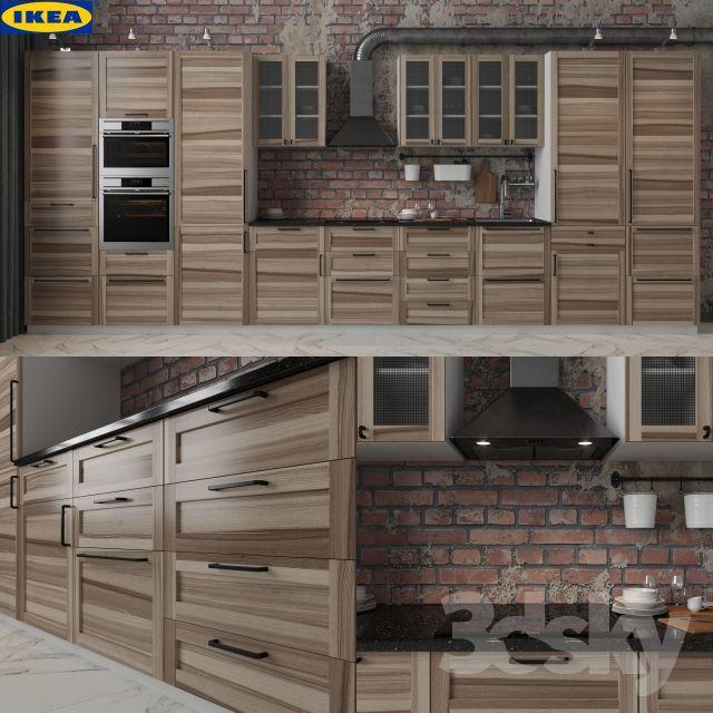 3d models: Kitchen - IKEA TORHAMN | Casas rusticas | Cocina ikea ...