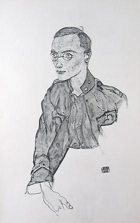 """""""One-Year Volunteer Private [Zeichnungen] SCE047 - Egon Schiele - Works"""", - Jason Jacques"""