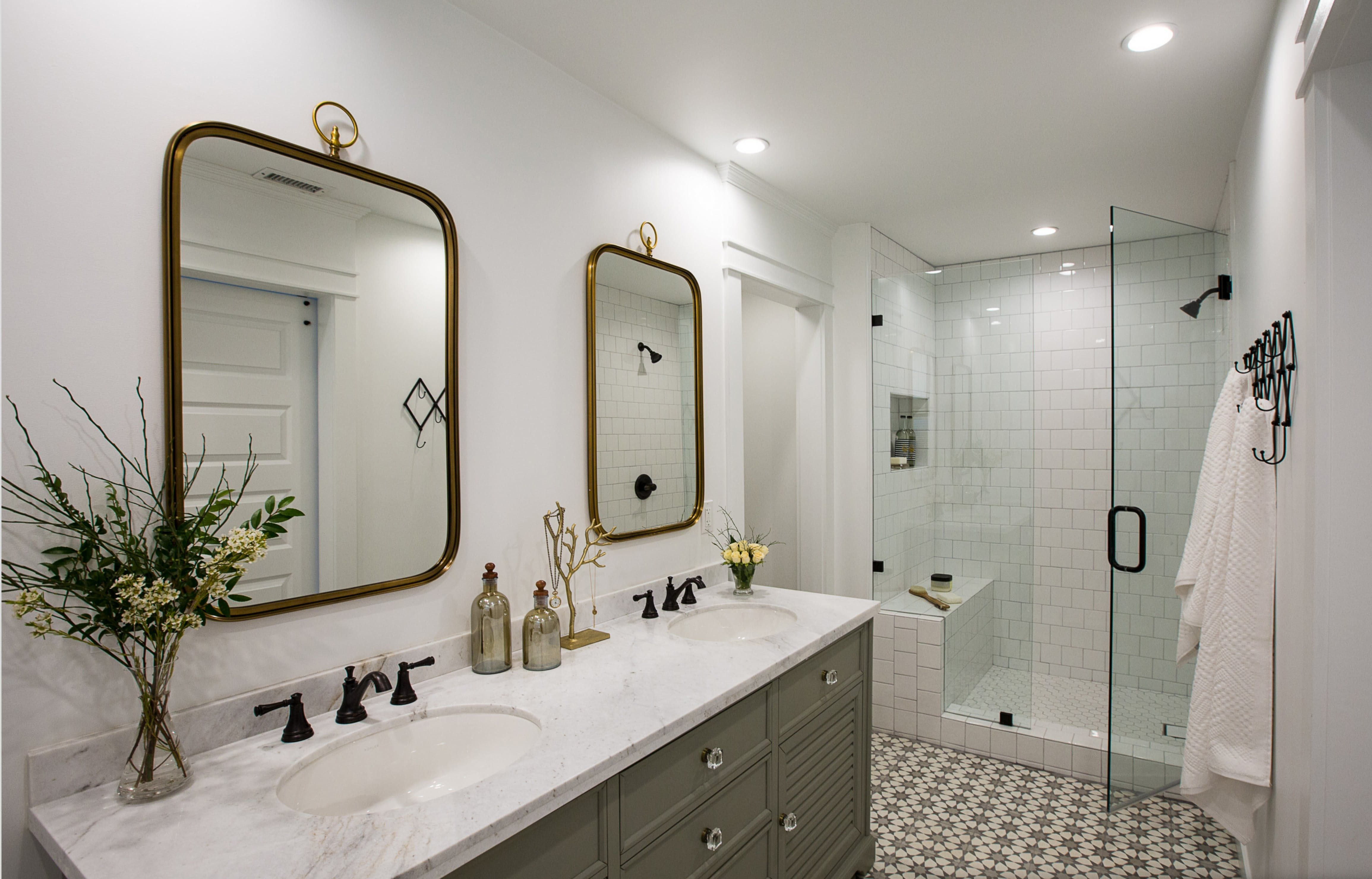 A Husband And Wifes Happy Medium Small Space Bathroom Renovation - Small space bathroom renovations
