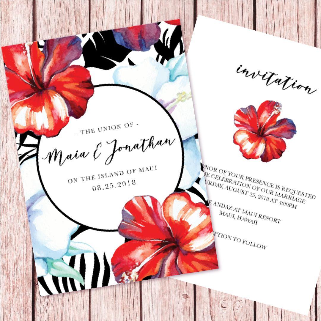 THE MAHALO COLLECTION | Personalized Wedding Invitation Set | Invite ...