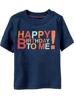 Happy Birthday To Me Tees For Baby