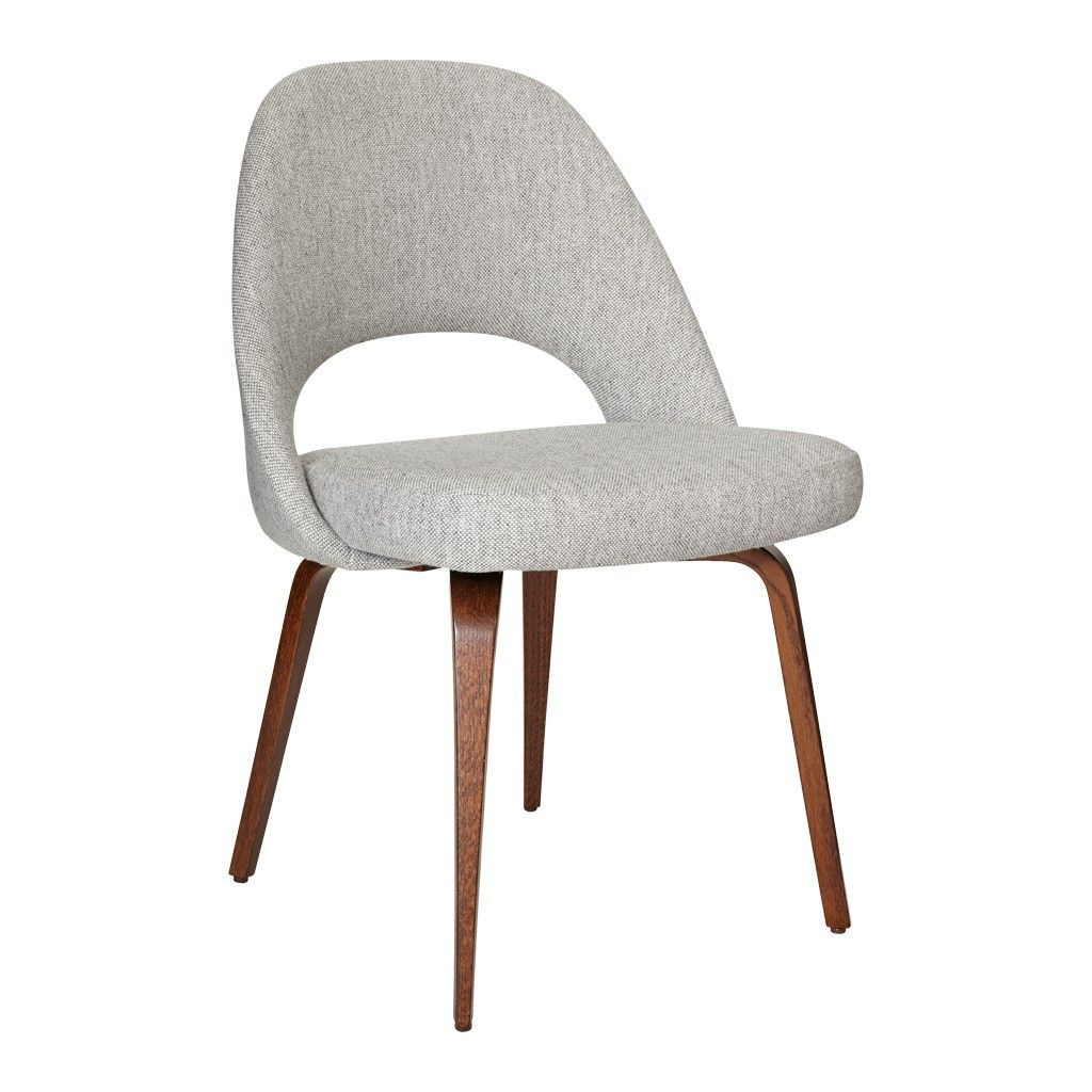 Saarinen Conference Chair Hallingdal Fabric U0026 Oak Stained Walnut Legsu2026