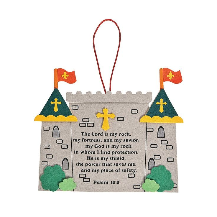 Vacation Bible School Craft Ideas Kids Part - 20: Vbs Fortress Craft For Kids | Mighty Kingdom Sign Craft Kit -  OrientalTrading.com