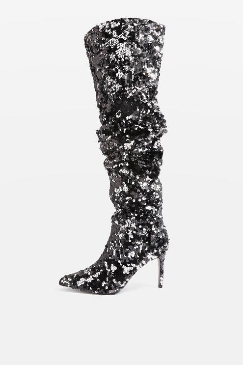 c0329bdf138dca BEJEWELED Knee High Sequin Boots
