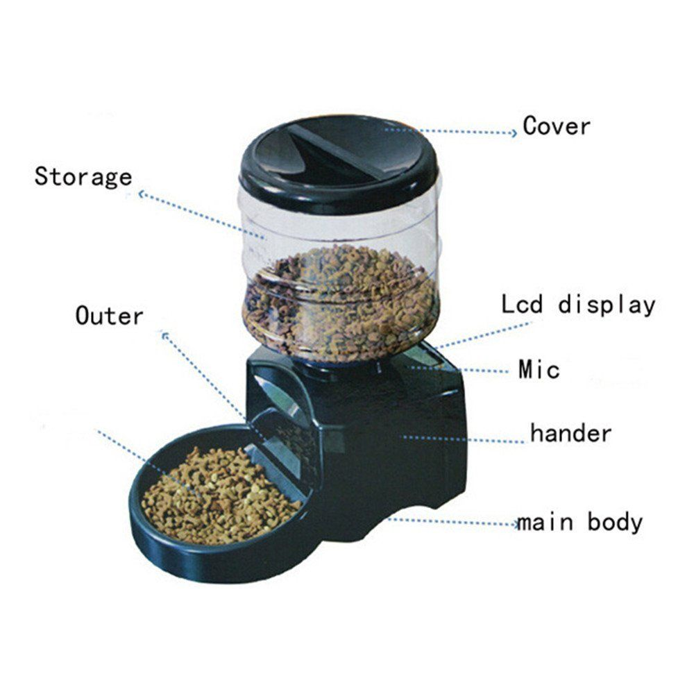 Automatic Feeder Fitiger Large Automatic Pet Feeder Electronic