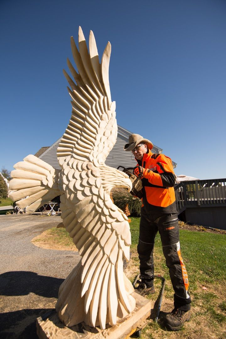 Chainsaw carving by paul is a professional carver
