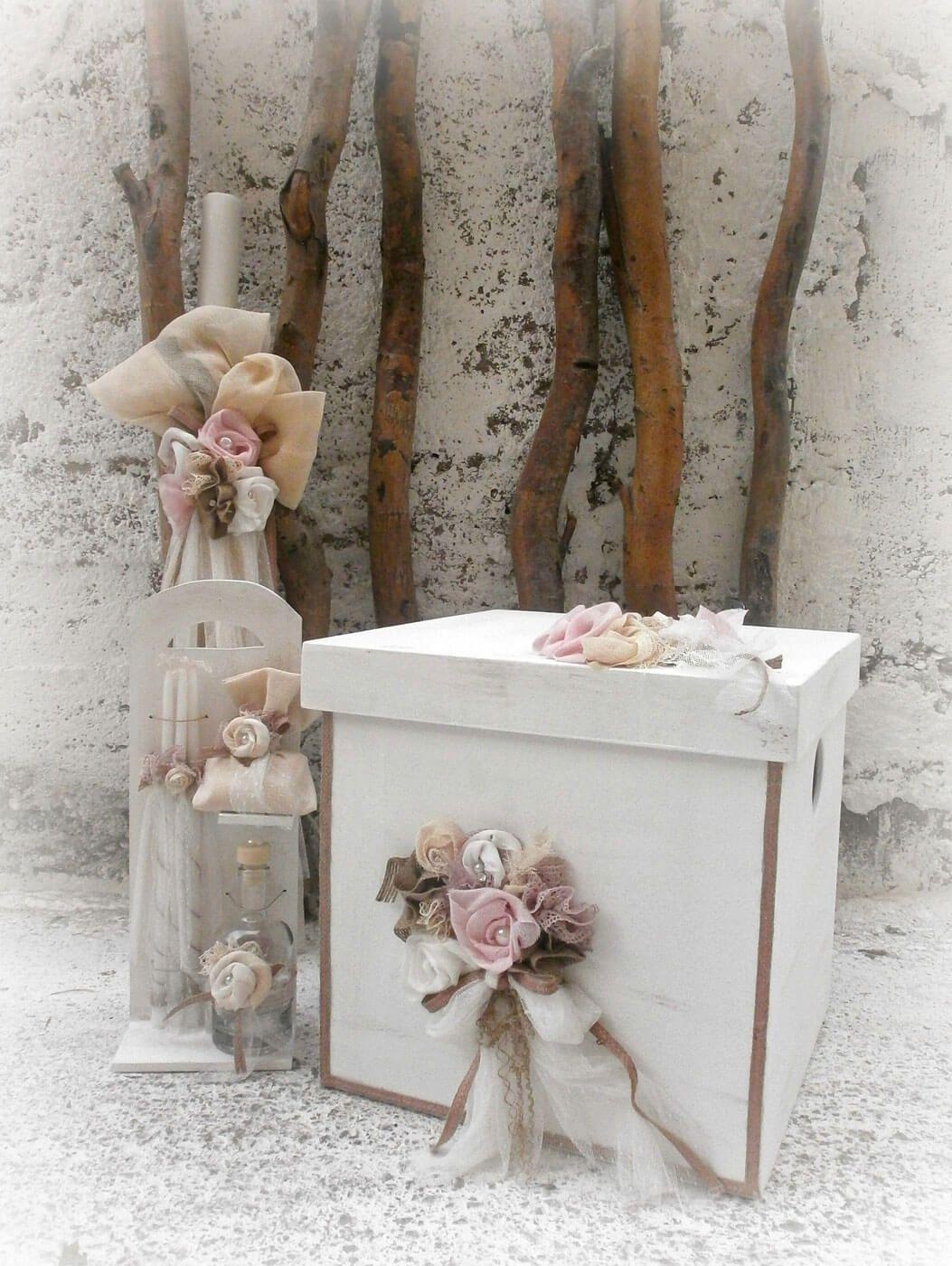 Vintage βαπτιστικό σετ για κορίτσια με υφασμάτινα τριαντάφυλλα ... 1121add0817