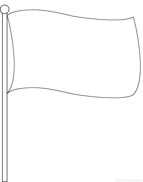 Blank Flag Template Printable Color Guard Pinterest Sketch
