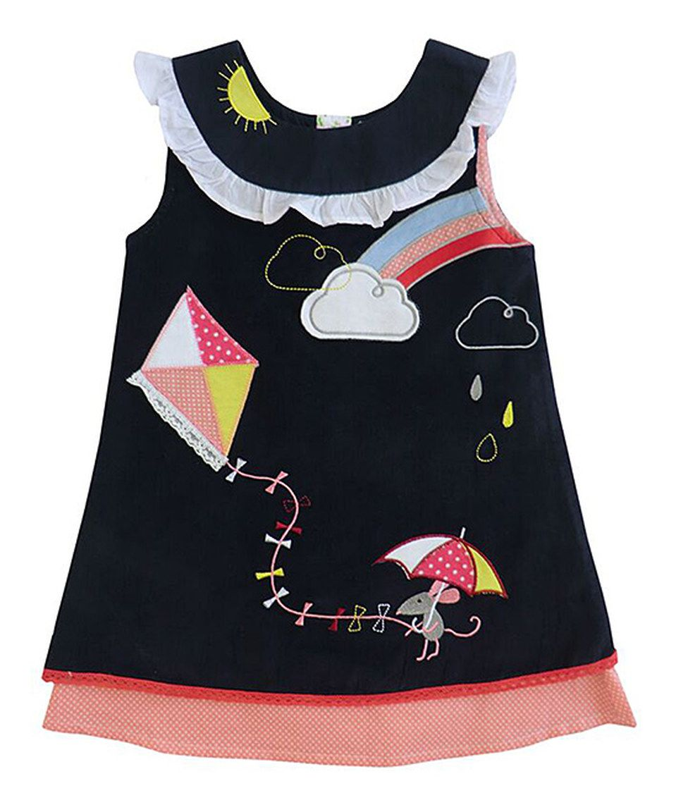 817942f2170a This Powell Craft Navy Weather Corduroy Yoke Dress - Infant   Kids ...