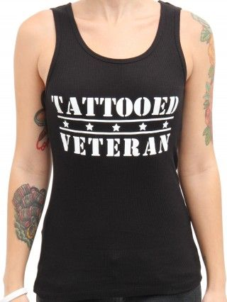 "Women's ""Tattooed Veteran"" Tank by Steadfast Brand (Black)"