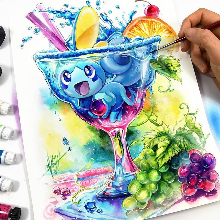 I am loving this acrylic pokemon fan art featuring the latest water pokemon star… – Poke Ball