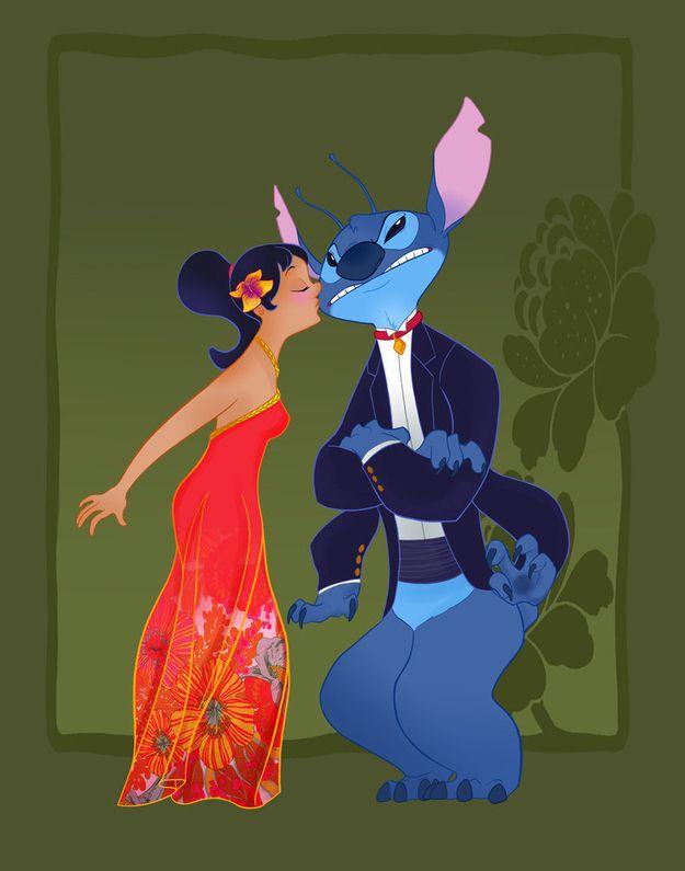 14 Disney Couples Go To Prom: Lilo Stitch