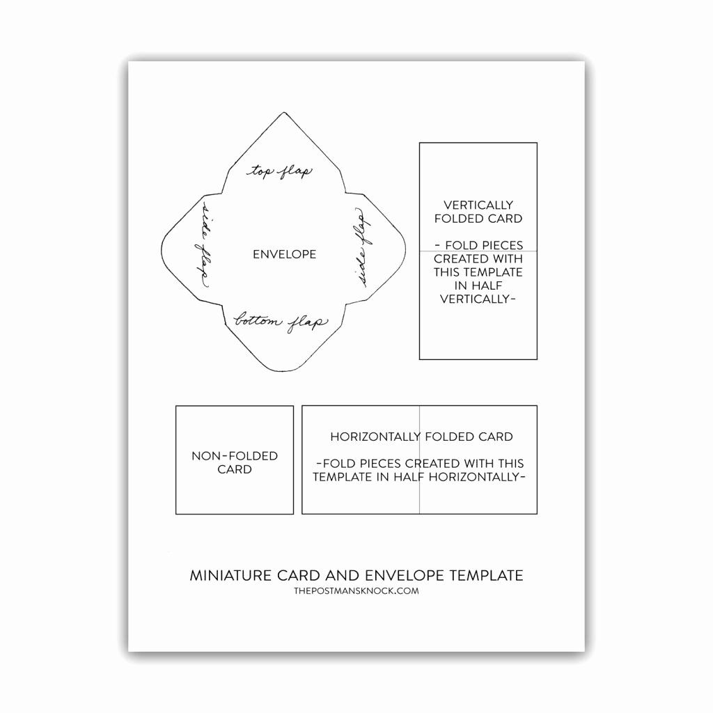 Quarter Fold Card Template Word Awesome Quarter Fold Card Template Free Word Google Docs Mini Envelopes Template Envelope Template Gift Card Envelope Template