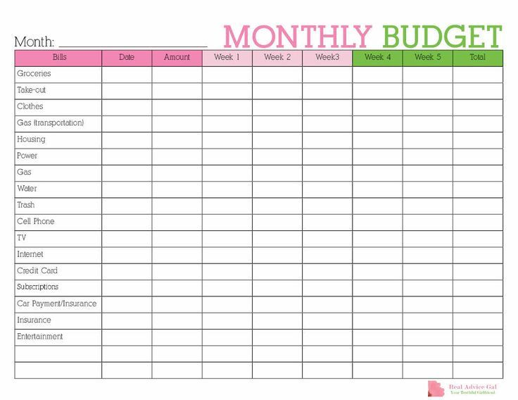 Keep Track Of Your Monthly Expenditures With This Free Printable