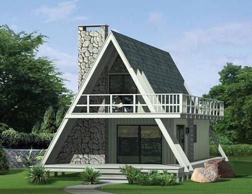 Casas alpinas planos decorativas pinterest chalets for Planos chalets modernos