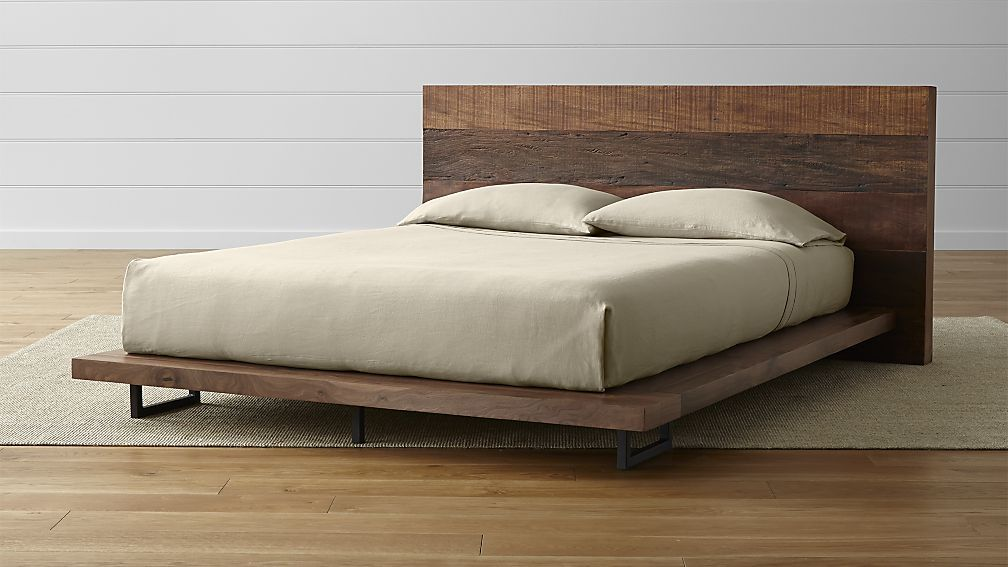 Best Atwood Rustic Platform Bed Crate And Barrel Rustic 400 x 300