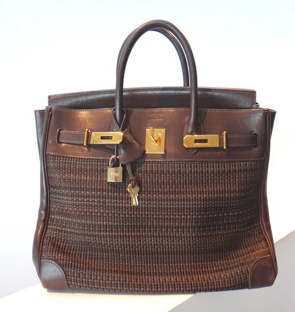 7953864ceffbf Hermes  Leather and Horsehair Crinolin Birkin Bag
