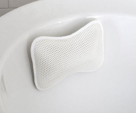 Splash Home Cozy Non Slip Bath Pillow 11 X 2 5 X 8 White White