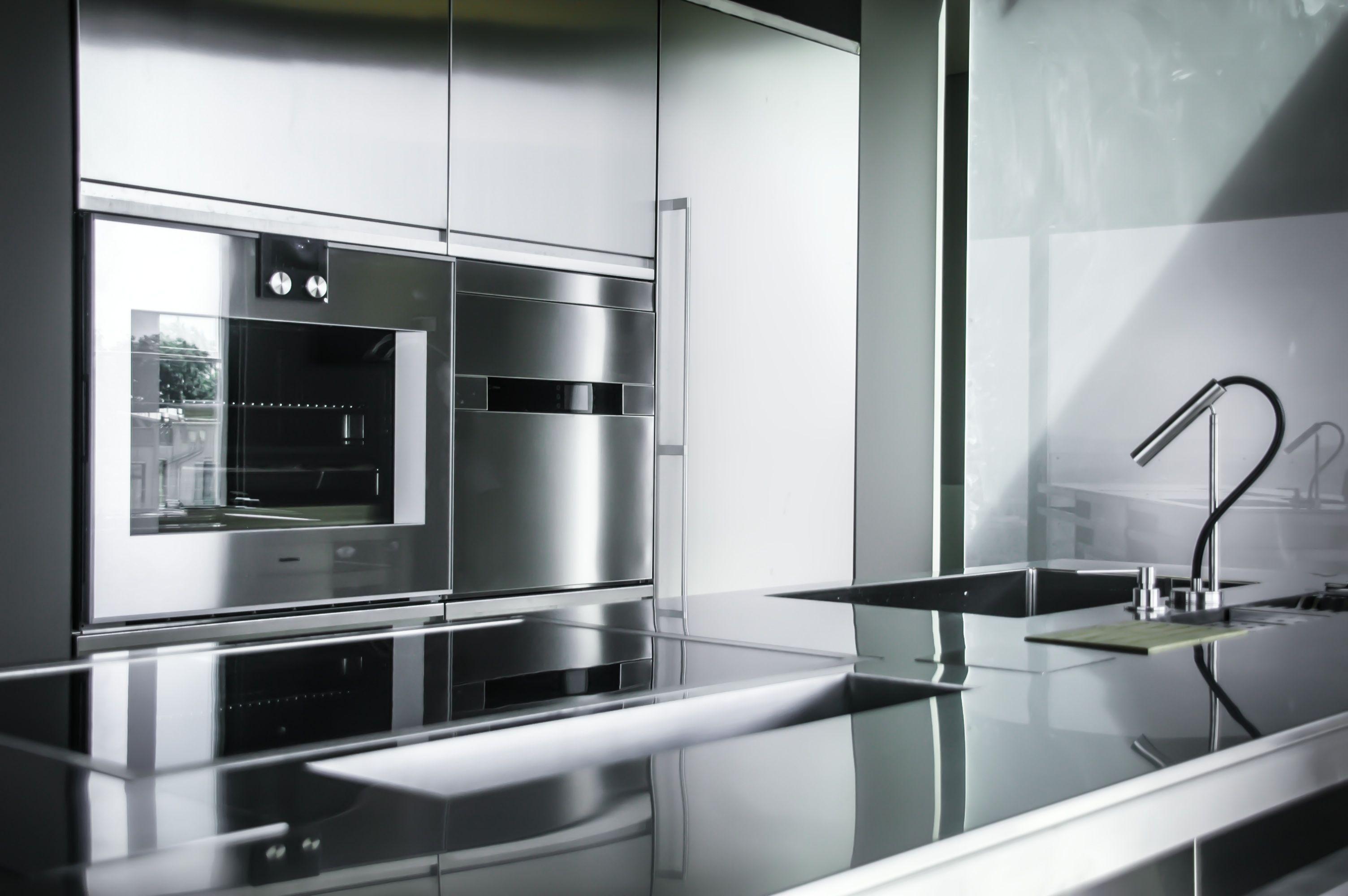 Mobili Cucina Professionale Acciaio.Monolit 90 Hand Brushed Cucine Xera Cucina