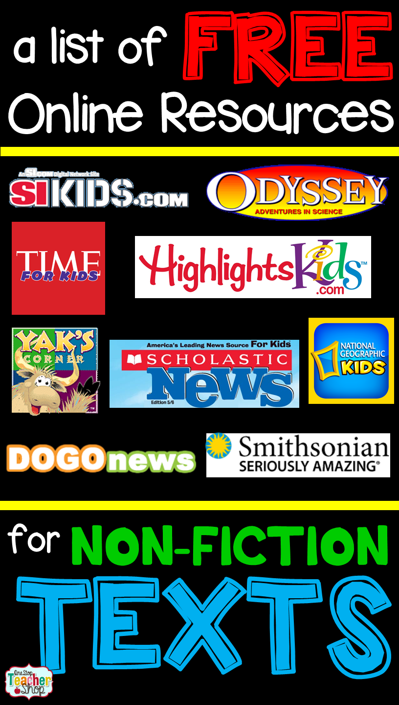 Free Nonfiction Reading Websites for Kids | 5th ELA