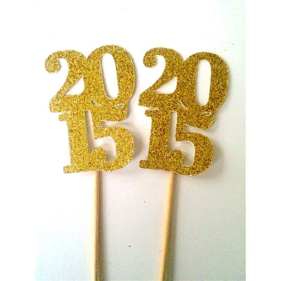 2015 Graduation Cupcake Toppers Graduation by PartyPerfectBoutique