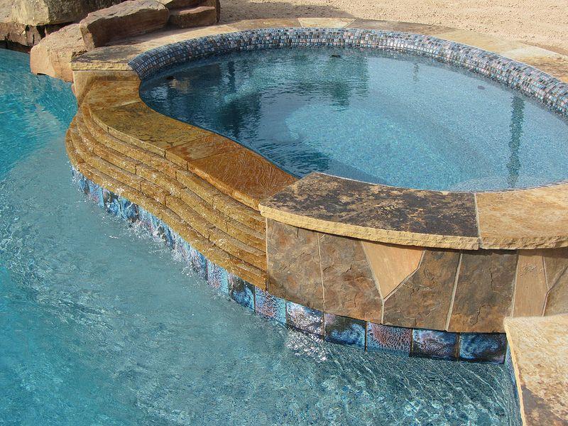 Water line pool tile thread premium waterline tile or for Thread pool design pattern