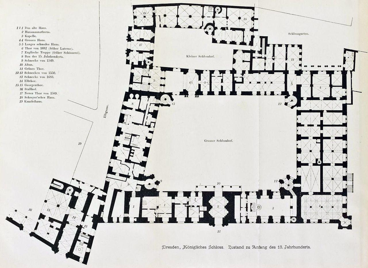 Floor Plan Of The Royal Castle Dresden Floor Plans