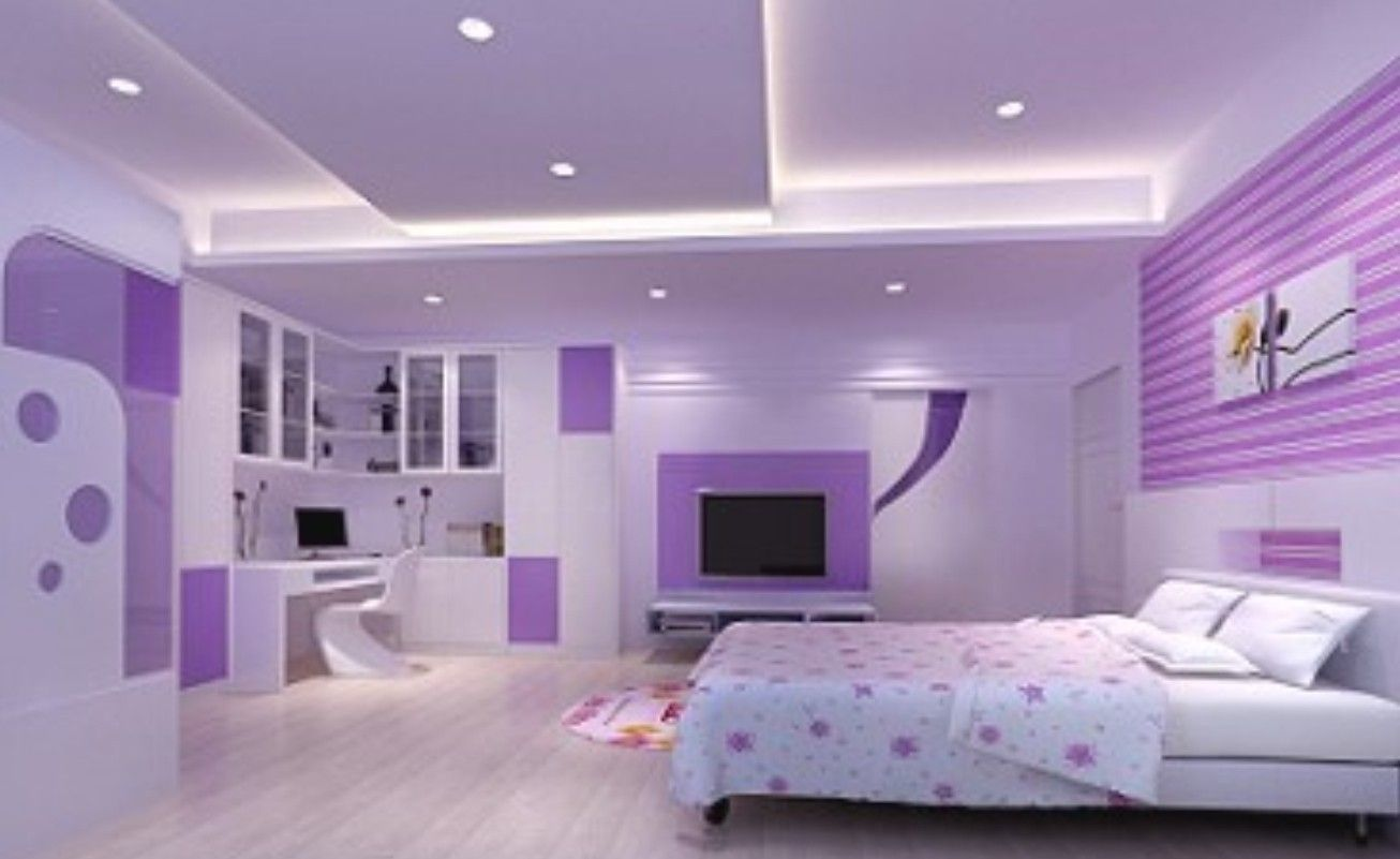 Bedroom Inviting Design Of Purple Pink Bedroom Interior For Women