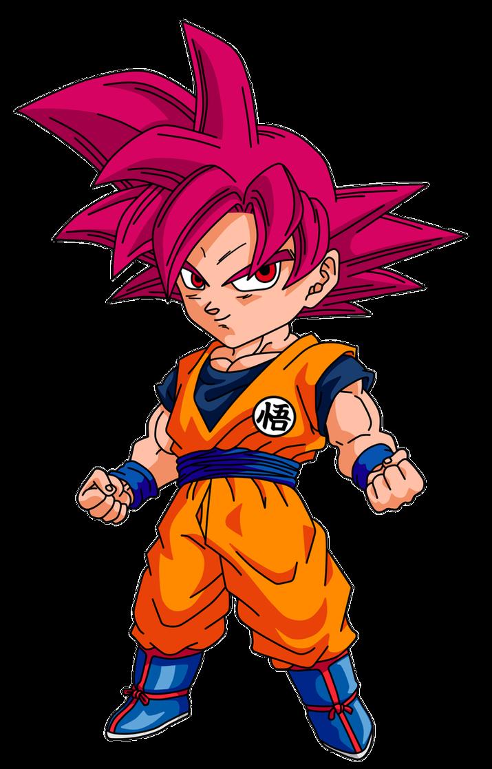 Chibi Goku Ssj God By Finn487 On Deviantart Chibi Dragon Chibi Goku Anime Dragon Ball Super