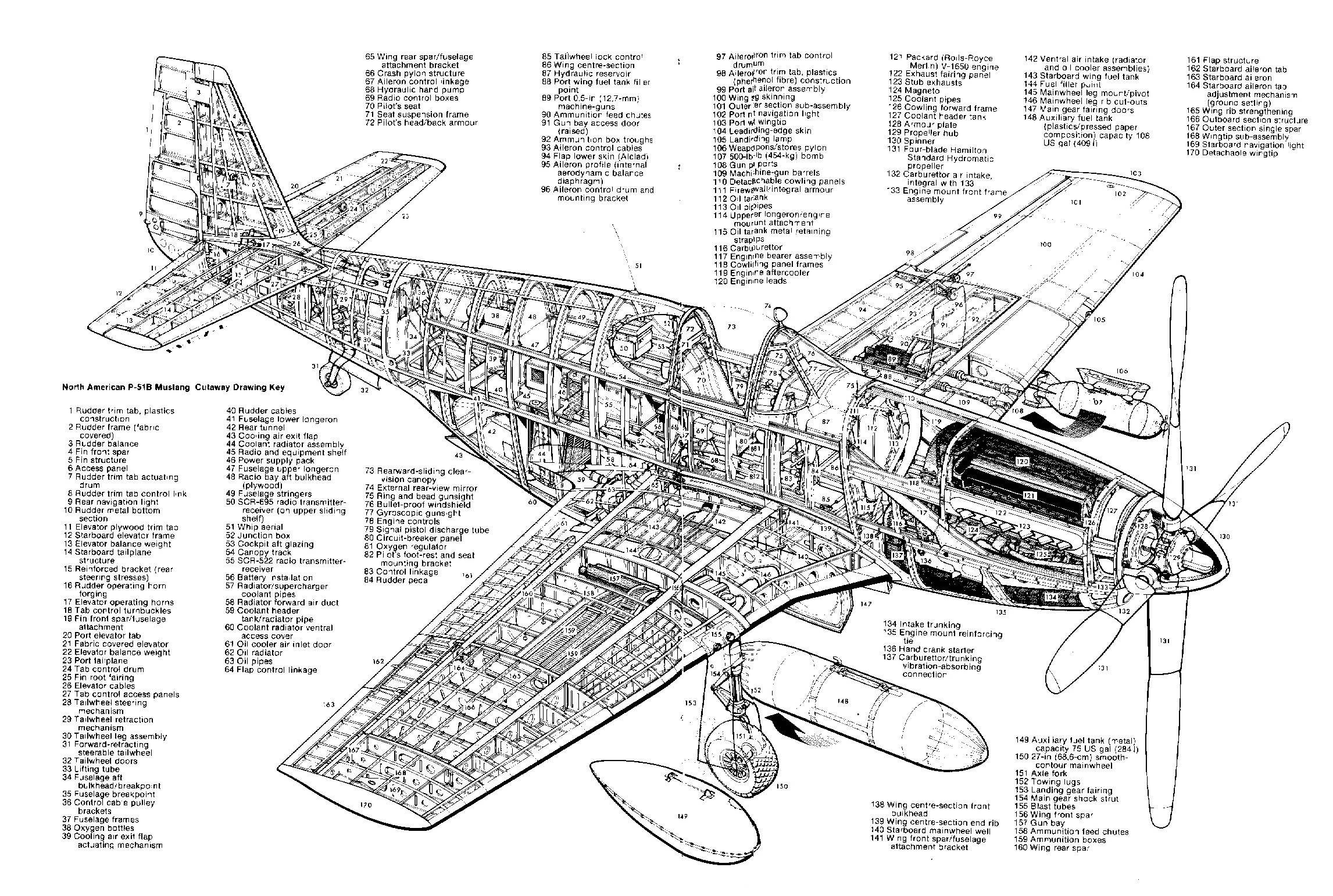 north american p 51b mustang aircarft cutaways. Black Bedroom Furniture Sets. Home Design Ideas