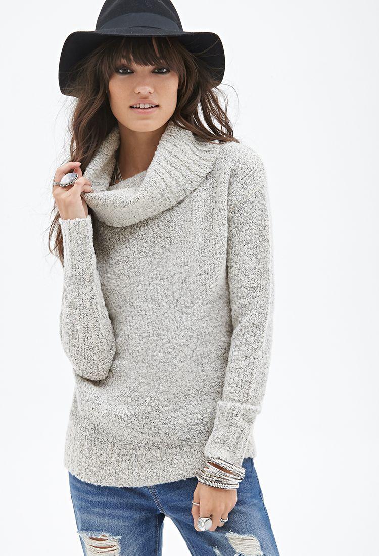 Oversized Cowl Neck Sweater Sweatshirts Knits 2000119071