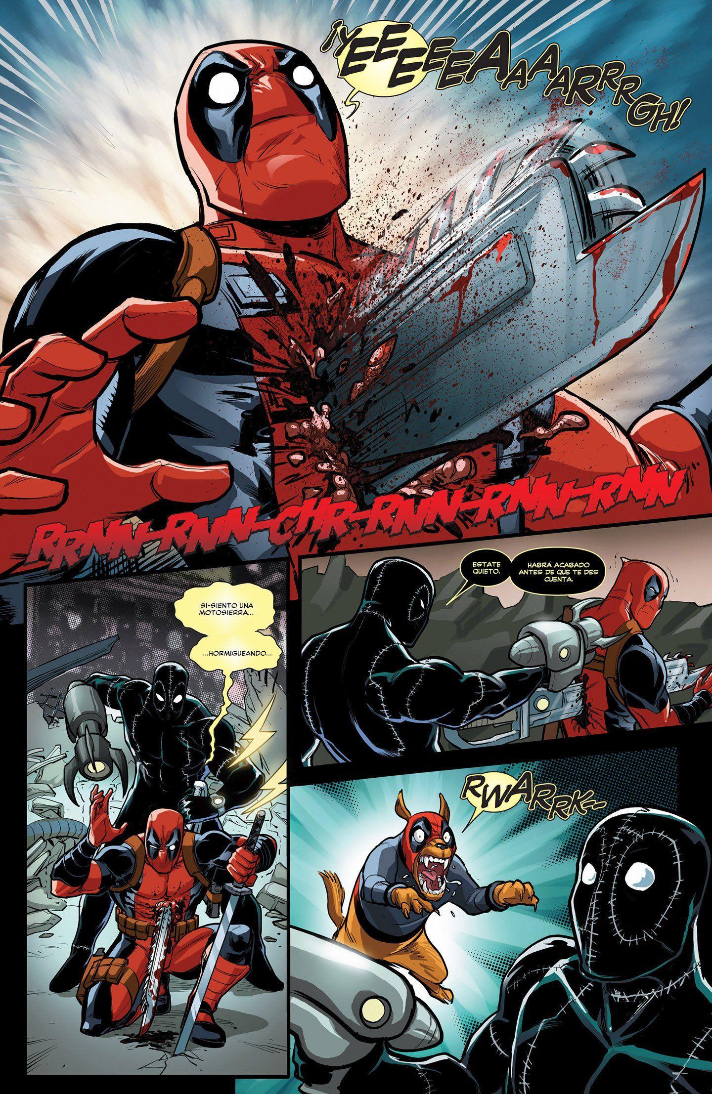Marvel Deadpool Ausmalbilder Gratis: Deadpool Mata A Deadpool 1# [Español] [Comic Marvel