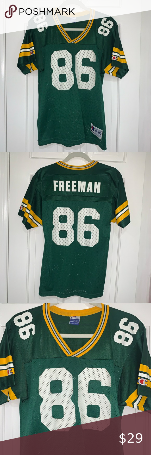Green Bay Packers Freeman 86 Champion Jersey In 2020 Green Bay Packers Champion Shirts Green Bay