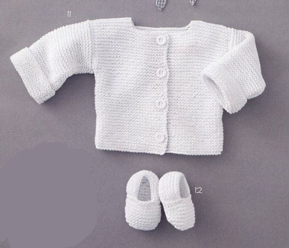 English super easy baby cardigan and slippers beginners knitting instant download pdf pattern content 2 knitting project cardigan sizes 3 6 dt1010fo