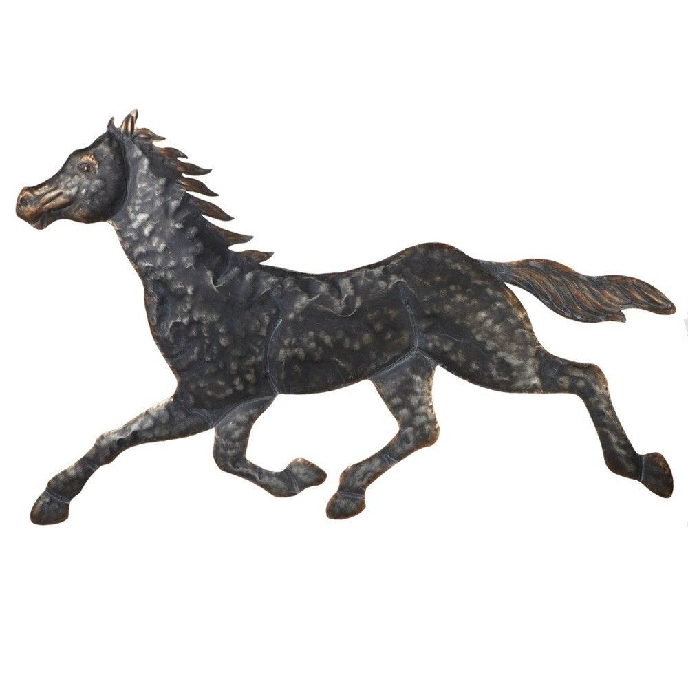 Weekend retreat stamped galloping horse wall décor products