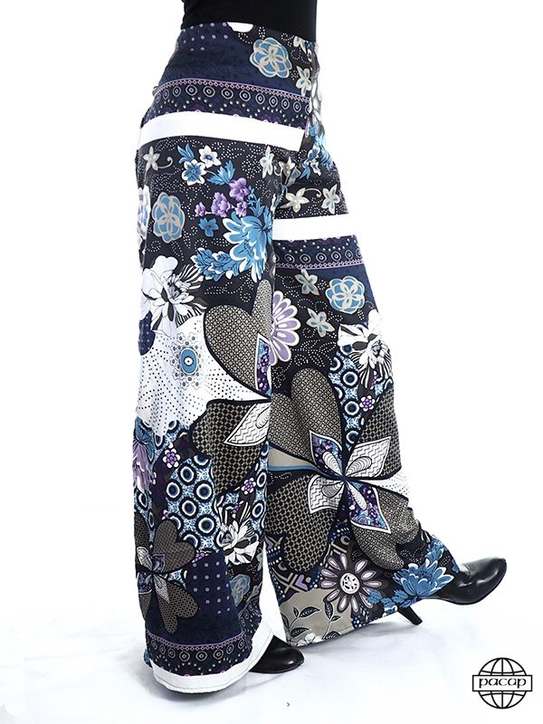 f3af757a4c67d Pantalon PACAP taille unique ethnique japonais, thaï ou thaïlandais,  pêcheur ou fisherman, large