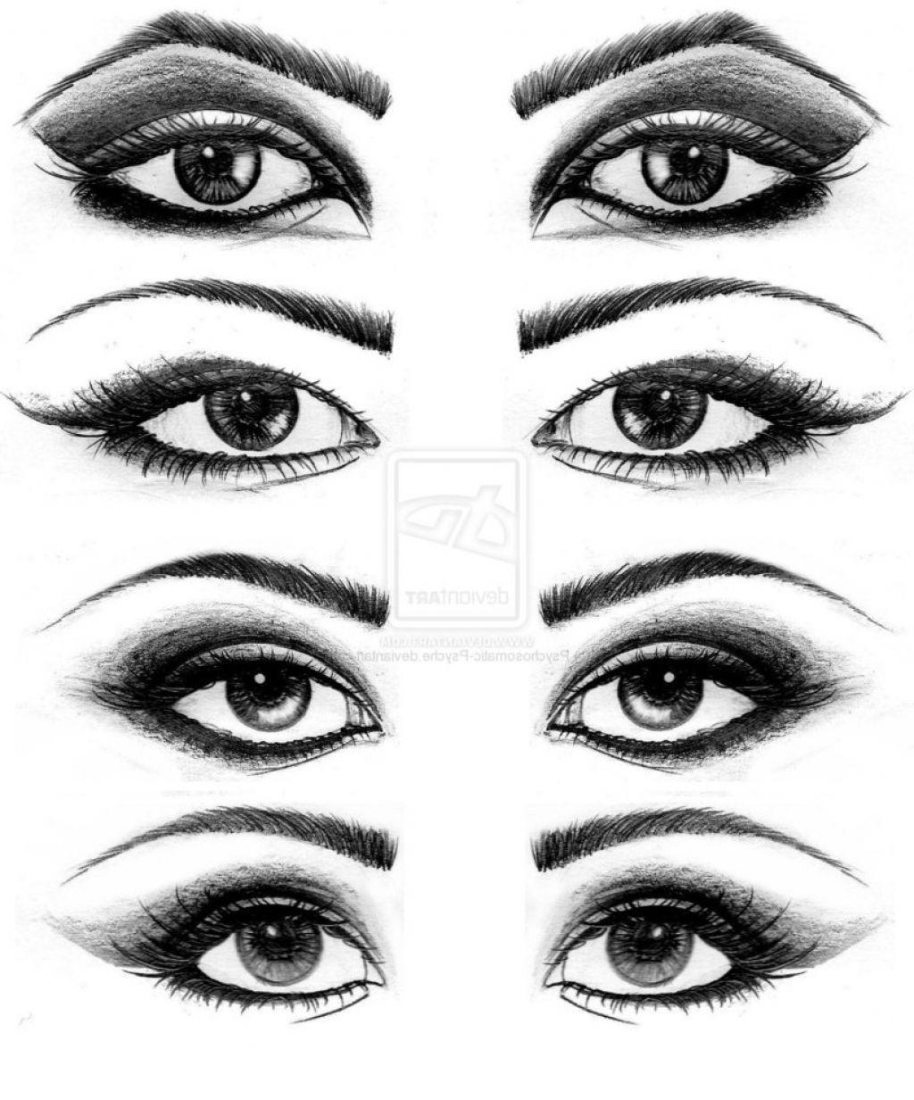 Various eye drawing makeup for asian eyes