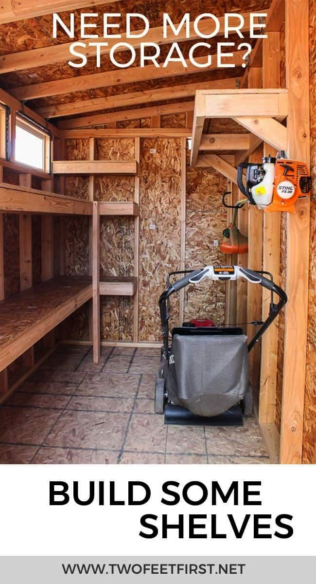 to build storage shelves in a shed or garage How to build storage shelves in a shed or garage  How to build storage shelves  Are you looking for a storage solution in you...