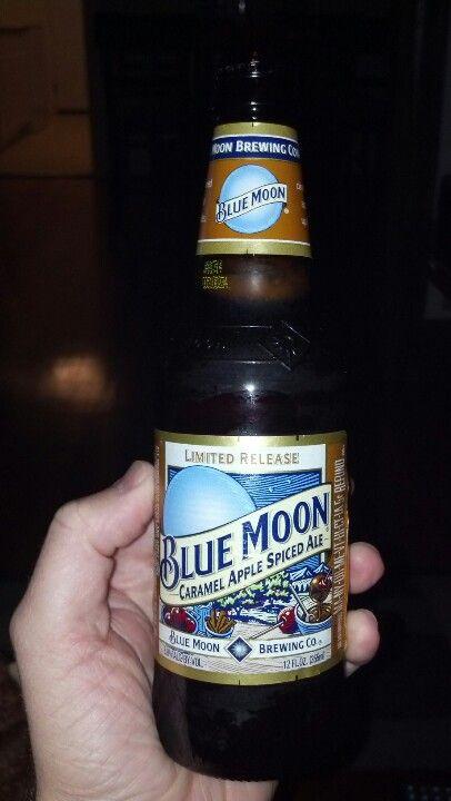 Blue moon Carmel apple spiced ale.  A little sweat a little spicy.