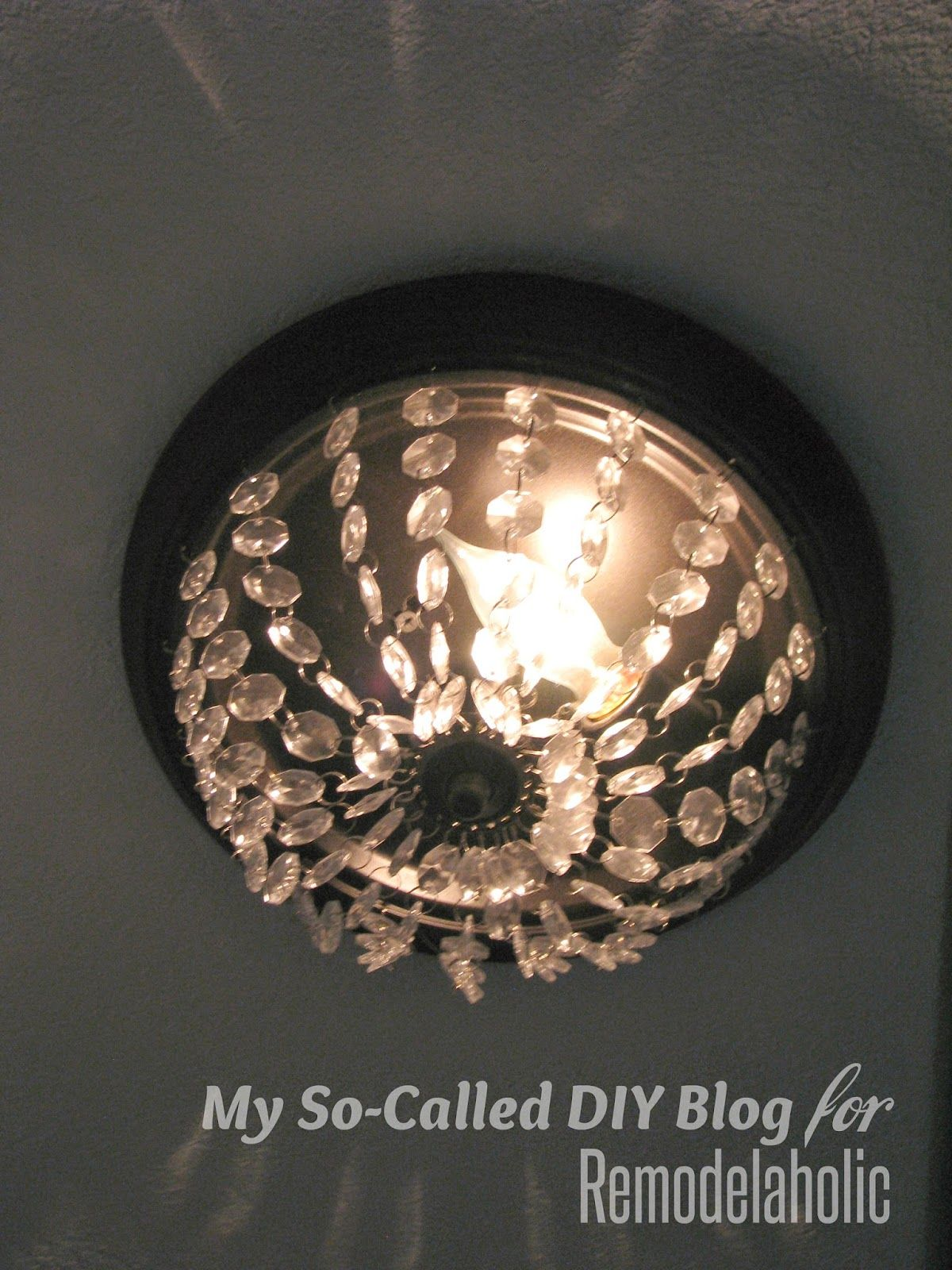 How To Update A Builder Grade Light Fixture With Hanging Crystals My So Called Diy Blog On Remodelaholic