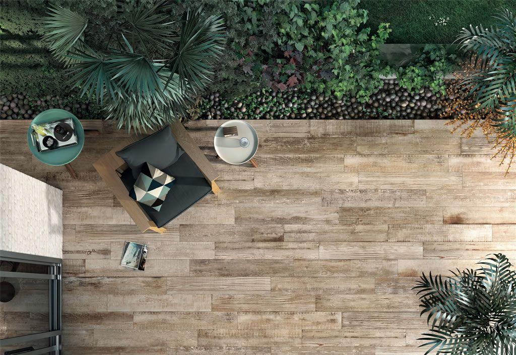 Scrapwood imitation bois Terrasse Pinterest