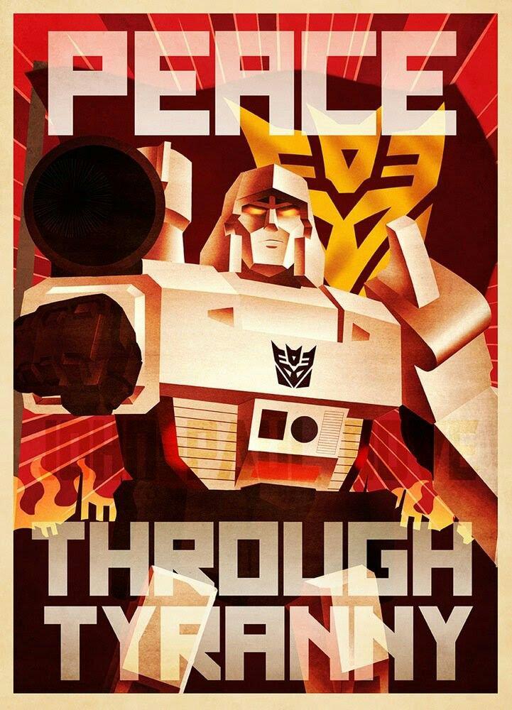 Decepticon propaganda poster.
