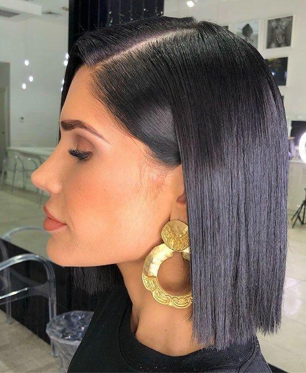 kurze glatte schwarze haare kurze glatte frisuren 2019 #