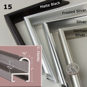 Our Nielsen Profile 15 is available in Matte Black, Frosted Silver